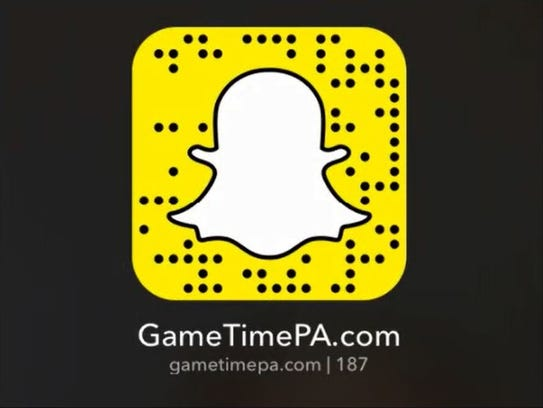 Follow GameTimePA.com on Snapchat!