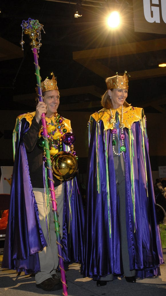 King Mike McConnell and Queen Kit Andrews presided over the 2008 Mardi Gras to benefit homeless children.