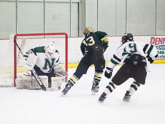 Russell Daavettila (13) scored Howell's first goal