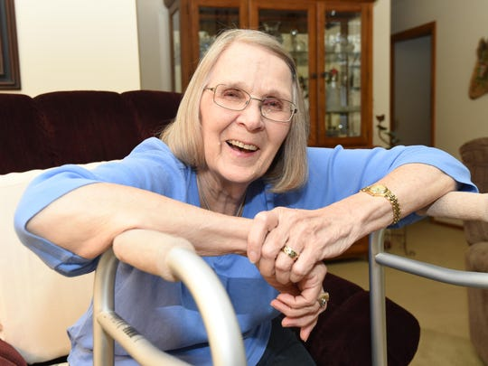 Carol Frechin, 76, of Flippin, had a defective Stryker Corp. hip implant removed after her hip came out of its socket due to tissue inflammation. Frechin had been having trouble with the hip prior to it coming out of socket.
