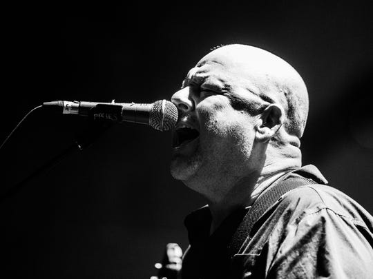 The Pixies play in Hoyt Sherman Place on Tuesday, July 3, 2018, in Des Moines.