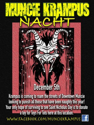 Muncie Krampus Nacht takes place Monday, Dec. 5.