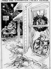 Editorial cartoon Dec. 25, 1941 from The Star that