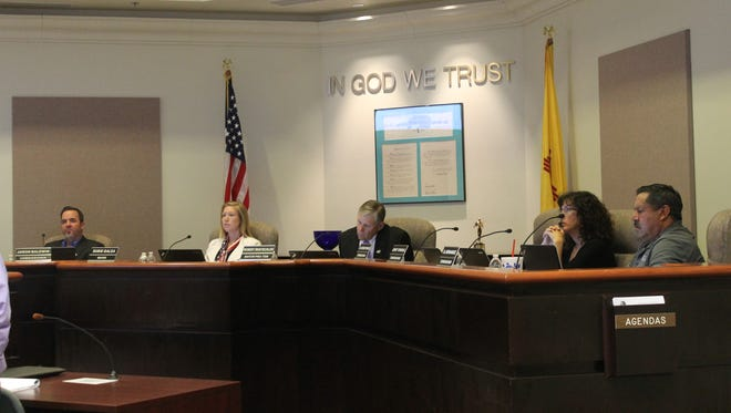 City Commission listens to speakers during agenda items during the meeting on Sept. 22.
