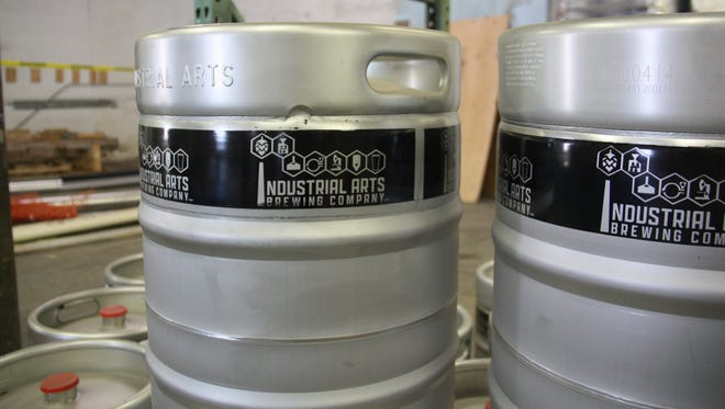 Kegs at Industrial Arts Brewing Co., opening this fall in Garnerville.