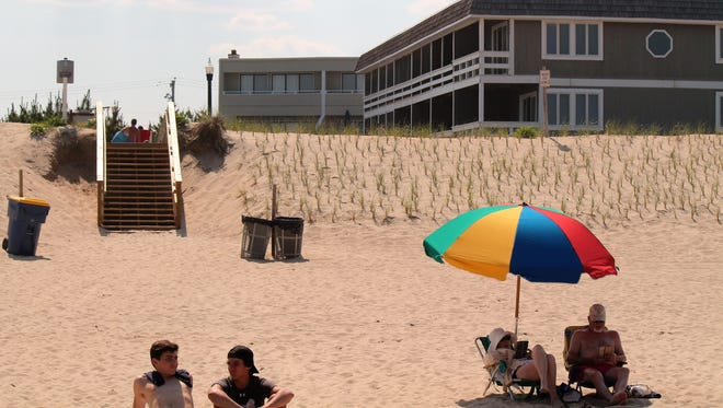 Beaches lose sand and width in the winter months. The winds change in the summer and the sand is blown back onto shore, building back up the beaches during the summer. Bethany Beach should benefit from the summer winds.