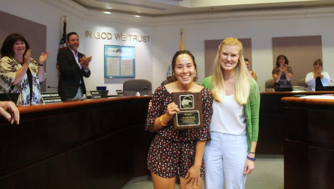 Mickeyla Wyckoff was honored by the City of Alamogordo for her composure and skill in saving the life a five year old child on June 20 at the Family Recreation Center.