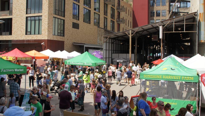 The Mill City Farmers Market opened in 2006 and has grown to more than 125 vendors including farmers, cooks and artisans. Much of the market is housed under the old railroad shed where trains brought grain to the mill.