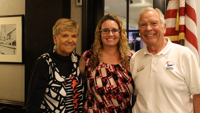 Left to right: Kathlee Reynolds, Rhonda Watkins and MISPS Commander Gene Burson.