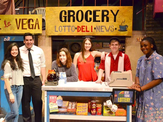 Cast members of  Wheatland-Chili High School's Drama Club's production of In the Heights during a recent rehearsal.