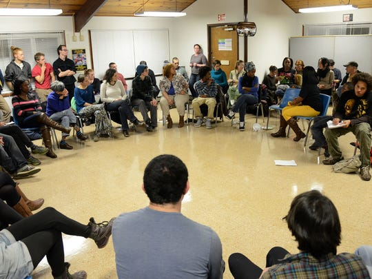 The HoodTalk forum at Klondyke Homes brought together more than 75 people from difference walks of life to speak about police oppression and racism on Dec. 18.