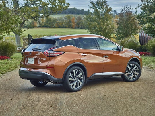 The 2015 Nissan Murano has large rear doors for easy entry and exit.