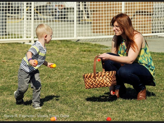 Hundreds came out Saturday to find eggs during the 10th Annual Eggstravaganza at Riverway Sports Park.