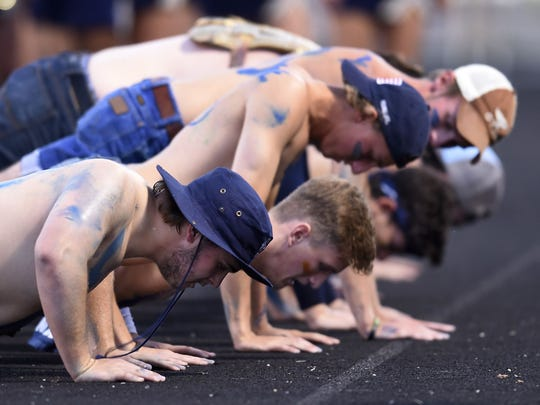 Independence fans pound out pushups during last week's