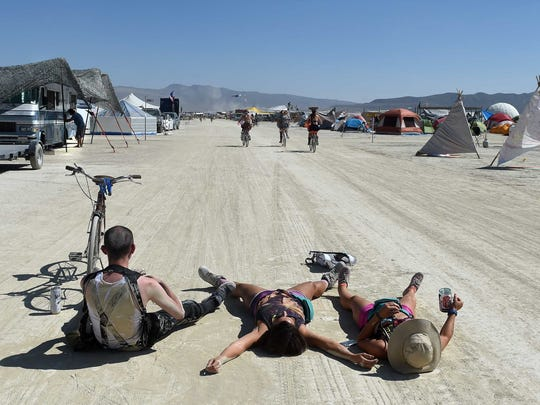 mages from Burning Man on the Black Rock Desert in