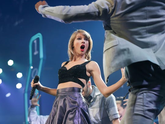 Taylor Swift performs at Banks Life Fieldhouse during