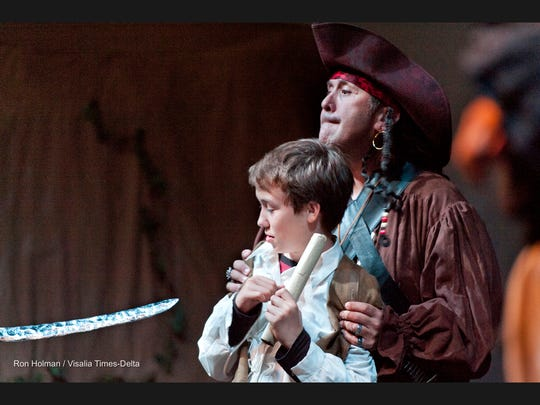 Kelly Ventura, right, and Andrew Rozum rehearse for