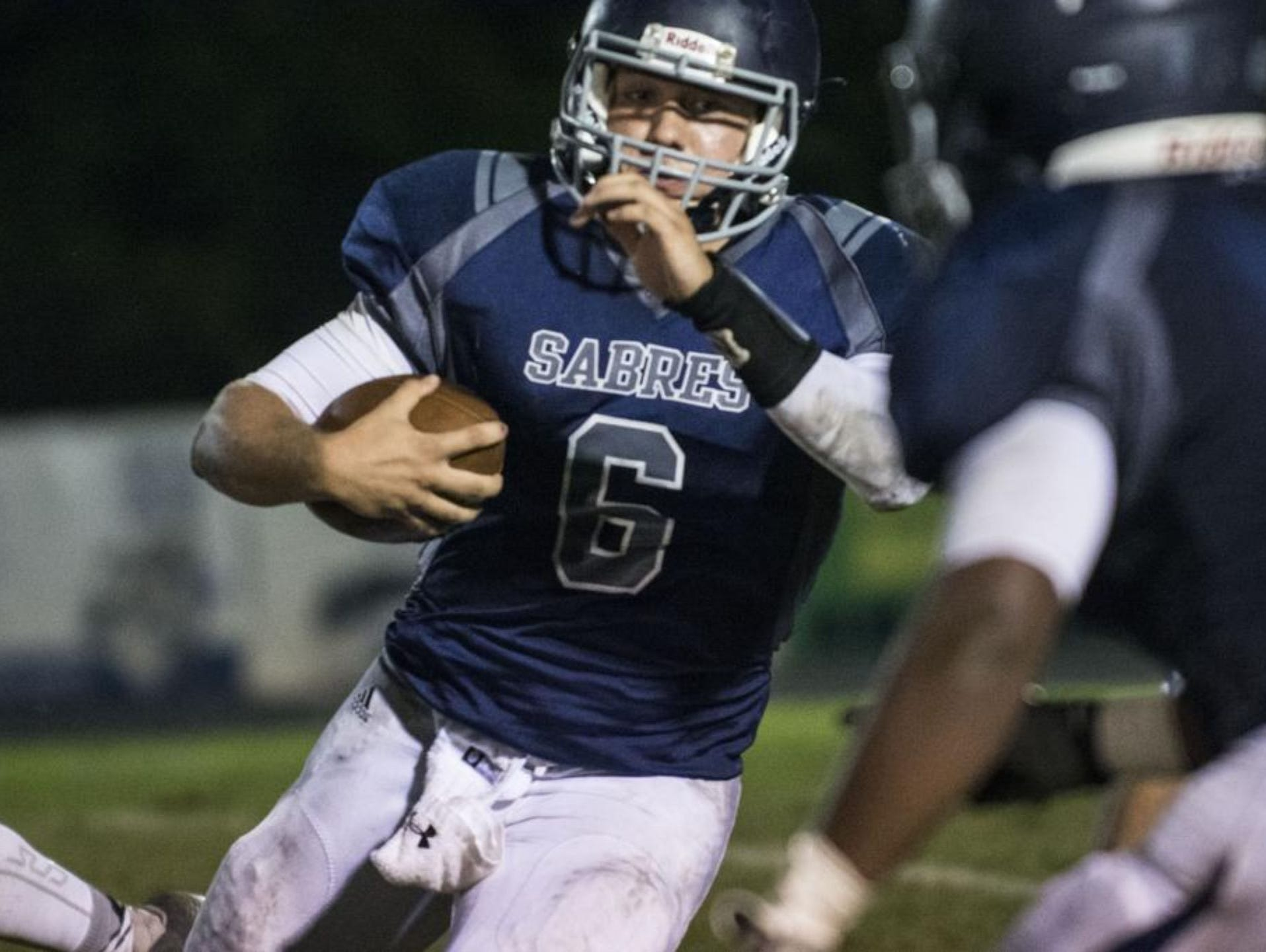 Quarterback Clayton Coulter (6) and the Southside Christian School Sabres are at No. 6 in Class A in this week's S.C. Prep Football Media Poll.