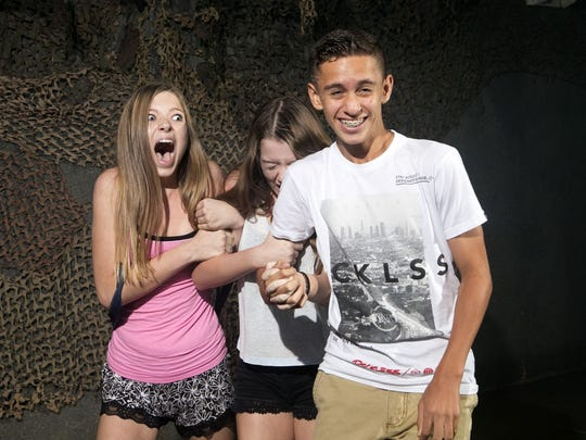 People react to frights, scares and startles in the
