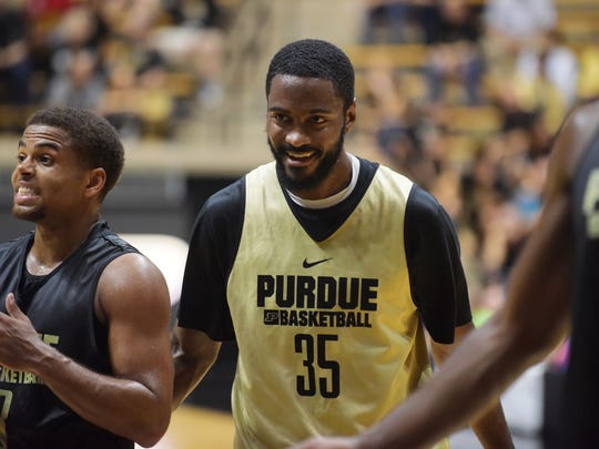 Purdue senior guard Rapheal Davis is the reigning Big Ten Defensive Player of the Year.