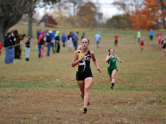 Colonel Crawford junior Anna Reffey was the top finisher