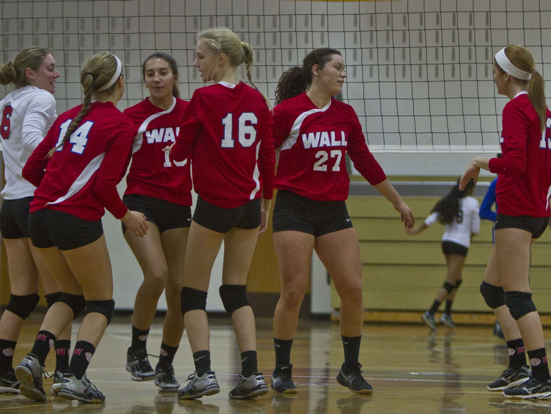 Wall girls volleyball against West Windsor Plainsboro North in NJSIAA Tournament