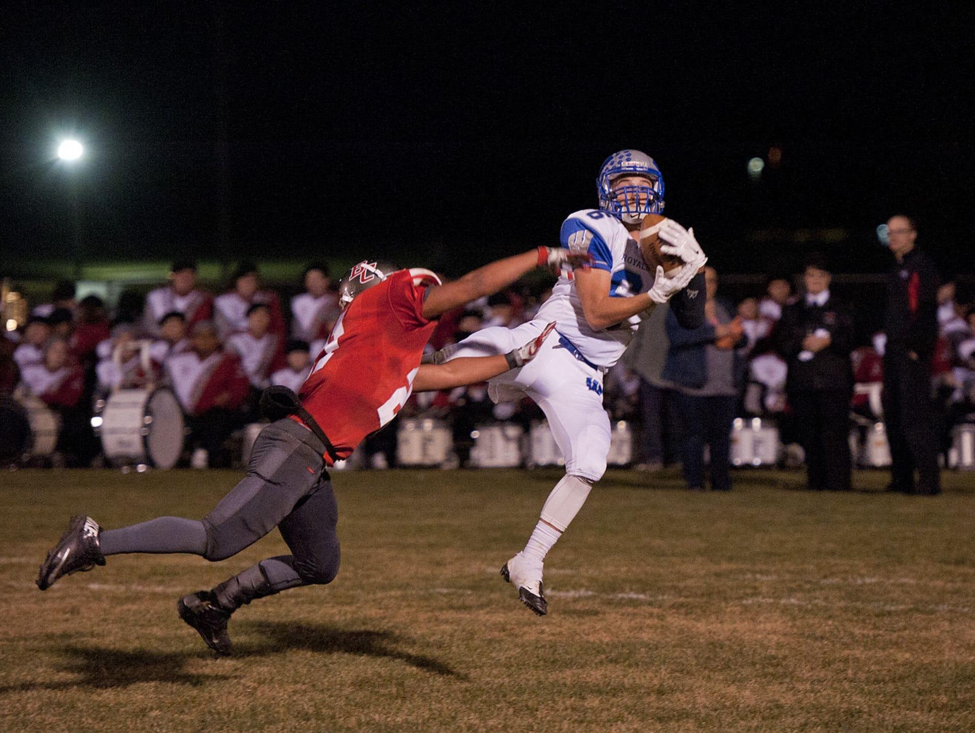Wynford's Braxton Tea hauls in a touchdown against Buckeye Central in Week 9.