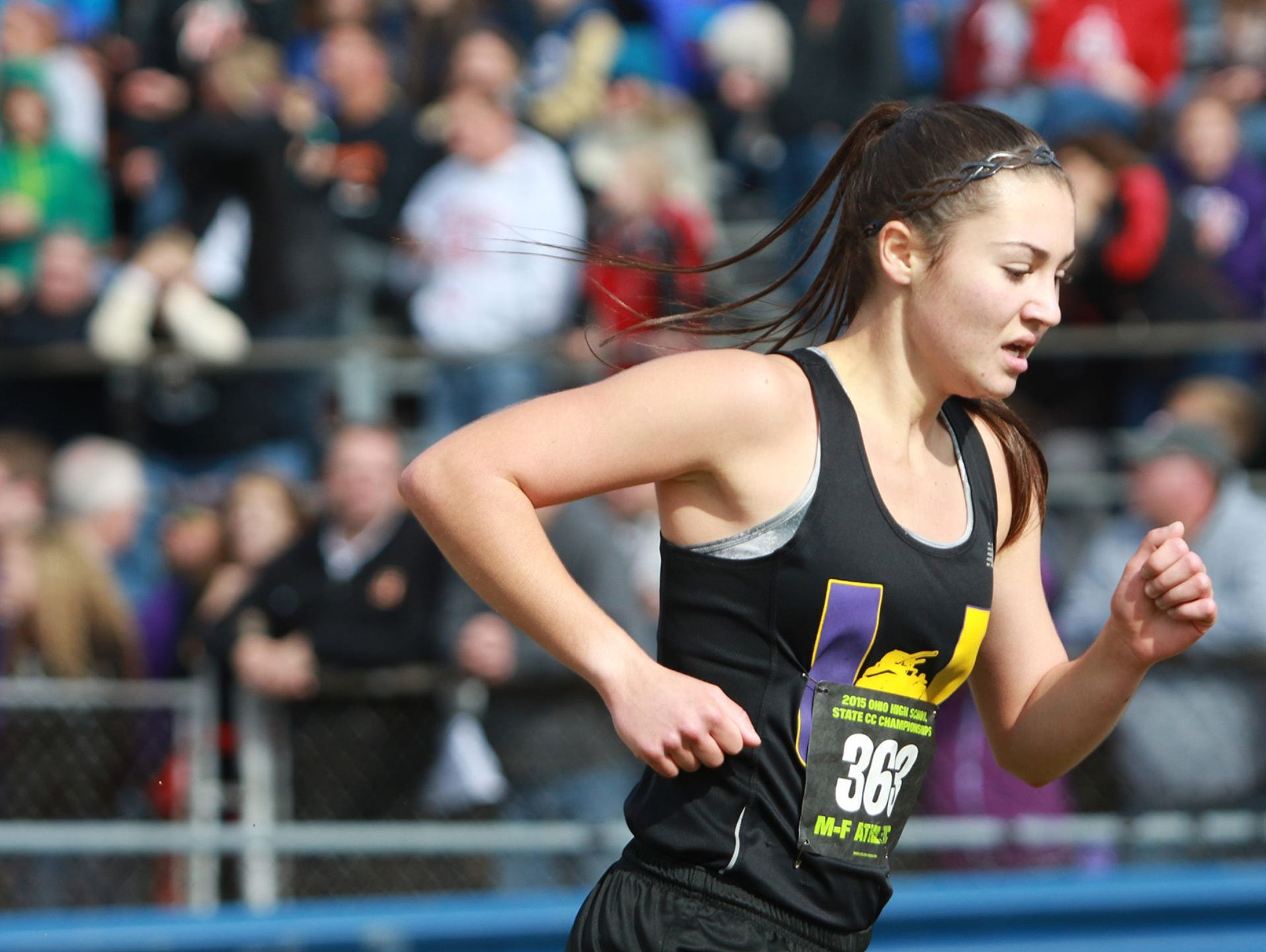 Unioto's Haley Wright participates in the Division II OHSAA state meet. Wright was named the 2015 Gazette Girls Runner of the Year.