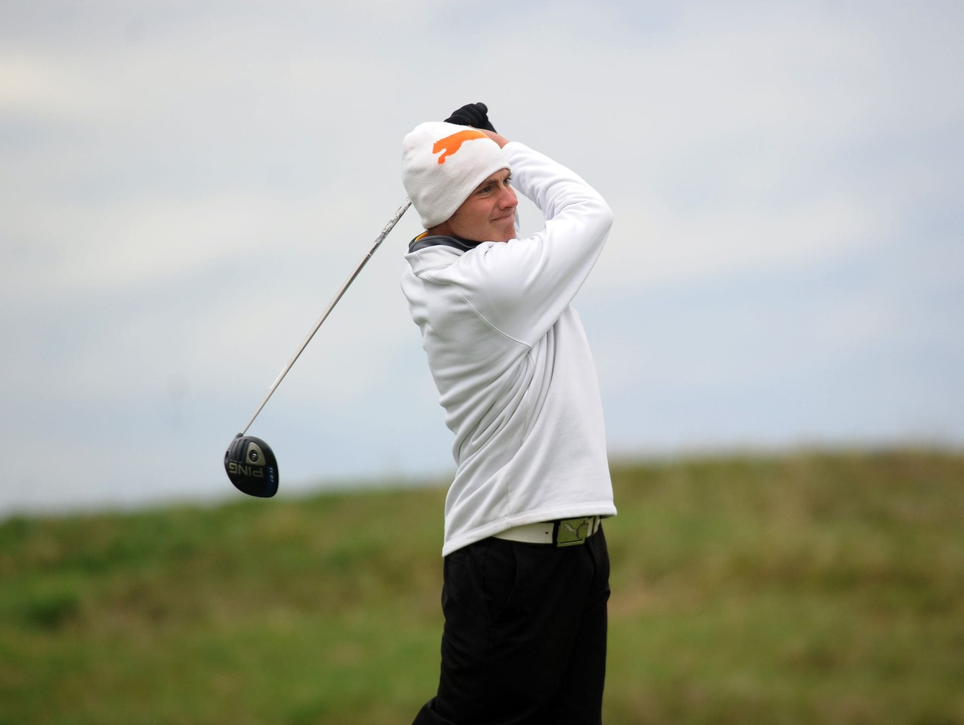 Unioto's Peyton Cooper tees off during the Division II OHSAA state golf tournament. Cooper was named the 2015 Gazette Boys Player of the Year.
