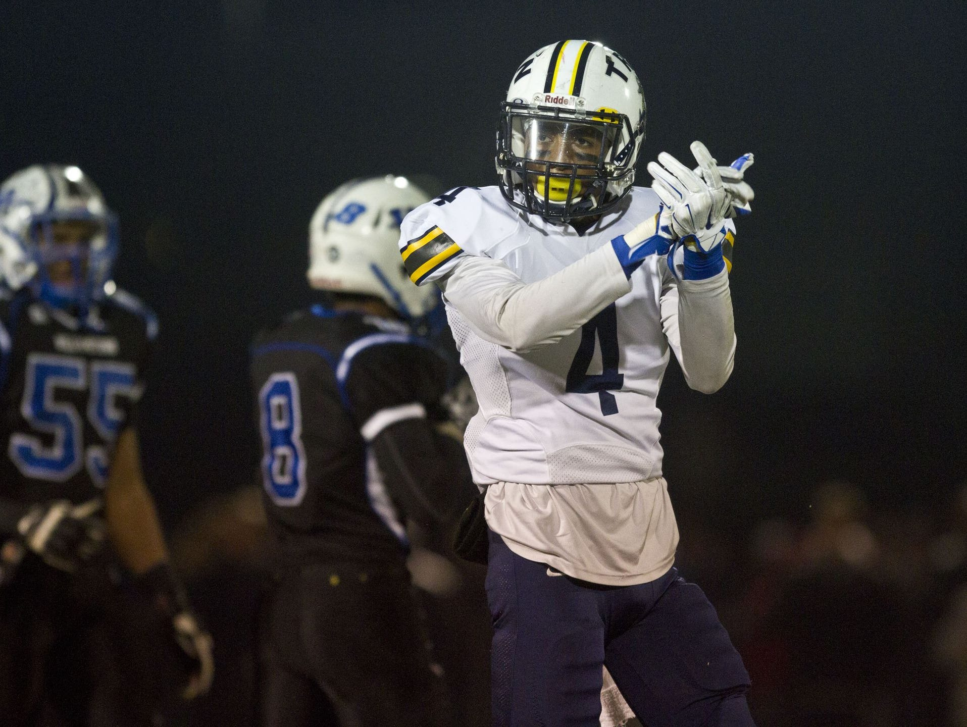 Toms River North junior wideout Darrion Carrington made several big plays against Williamstown in the NJSIAA South Group V championship game on Dec. 5, 2015 at Rowan University