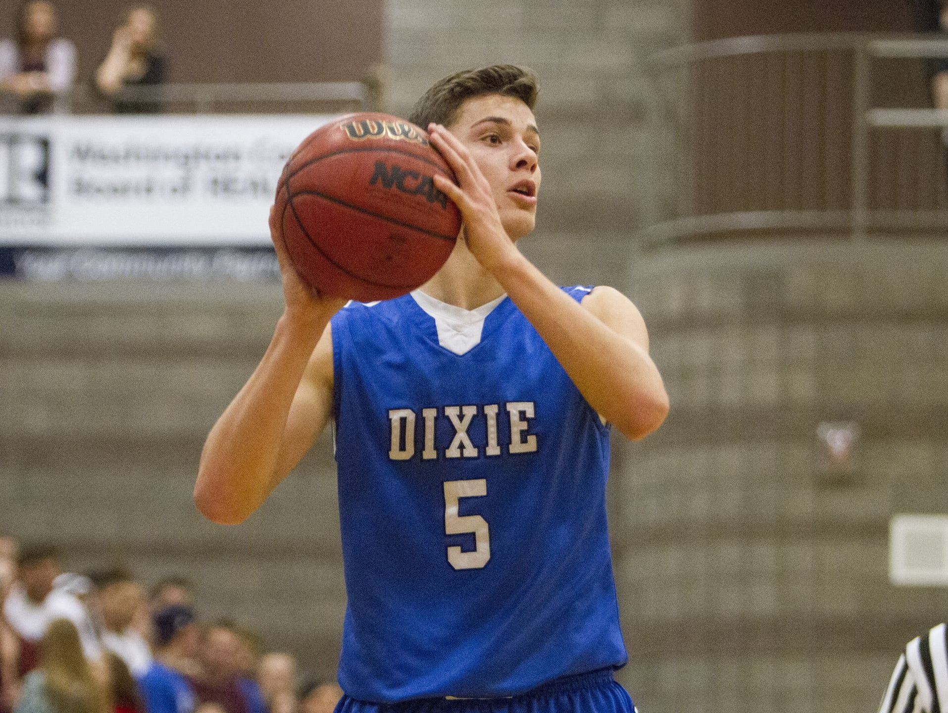 Dixie's Tyler Bennett has hit a number of big shots in his high school career which is why coaches have nicknamed him the LeBron James of Region 9.