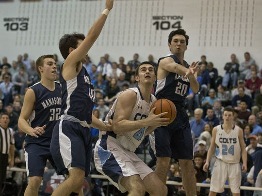 CBA's Pat Andree goes to the hoop. Christian Brothers