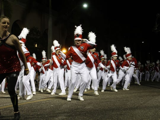 Many marching bands will appear in the 2017 Edison Festival of Light Grand Parade in Fort Myers.