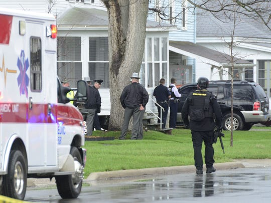 A standoff at a house in the 400 block of East Third Street in Port Clinton led to police and sheriff's deputies cordoning off two streets in April.