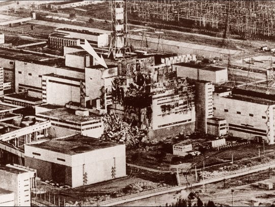 This May 9, 1986, photo shows the stricken reactor