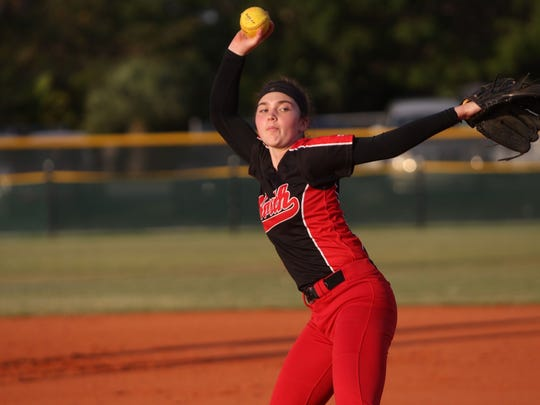 North Fort Myers junior pitcher Mackenzie Peterson has been nearly flawless for the Red Knights this season.