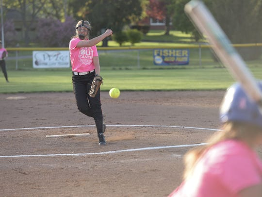 Bucyrus Pitcher Toni Zeigler proved she was one of