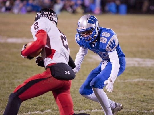 Wynford's Tyler Glowaski (88) has caught the attention of his coach, Gabe Helbert, as a player to watch for the Royals in 2016