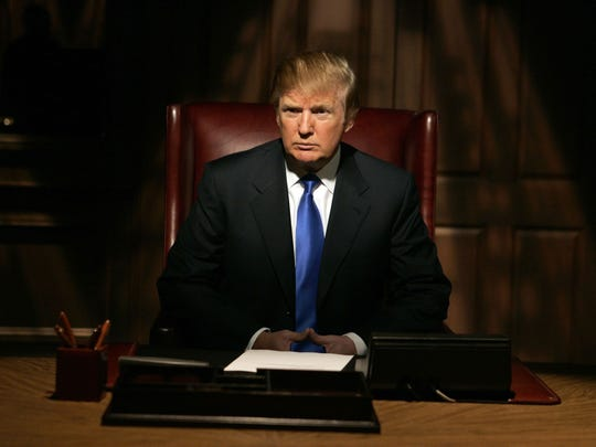 """Donald Trump on the set for his show, """"The Apprentice"""""""