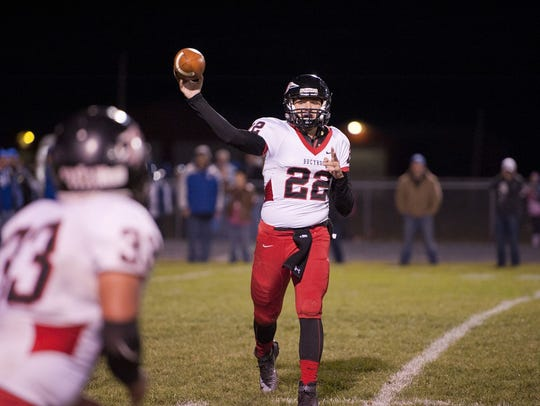 Bucyrus' Gavin Lewis retruns as the Redmen's best passing