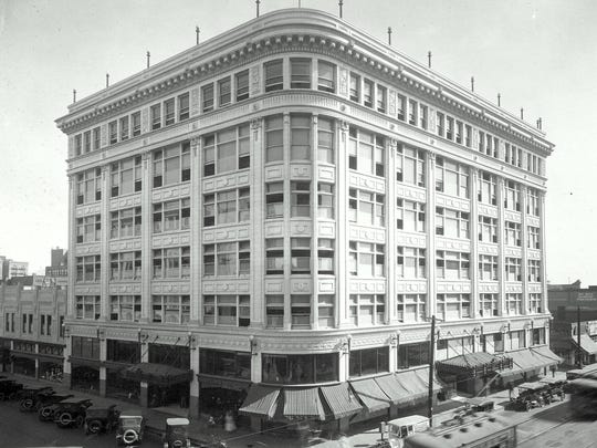This photo shows how The Popular department store building looked in the early 1900s.
