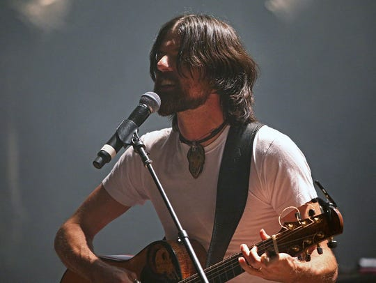 Seth Avett, of the Avett Brothers, performs Thursday