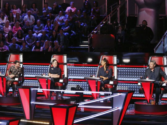 """The Voice"" has featured coaches Adam Levine, Miley"