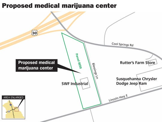 Viridis Medicine hopes to build a medical marijuana manufacturing center at 6287 Lincoln Highway, Hellam Township. The company would subdivide the property and construct a 50,000 square-foot building where it would grow and process marijuana.