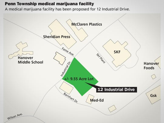 A medical marijuana facility has been proposed for 12 Industrial Drive in Penn Township.