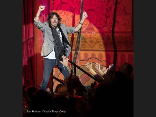 Foreigner performs to a sold out crowd at the Visalia Fox Theatre on Thursday, March 9, 2017.
