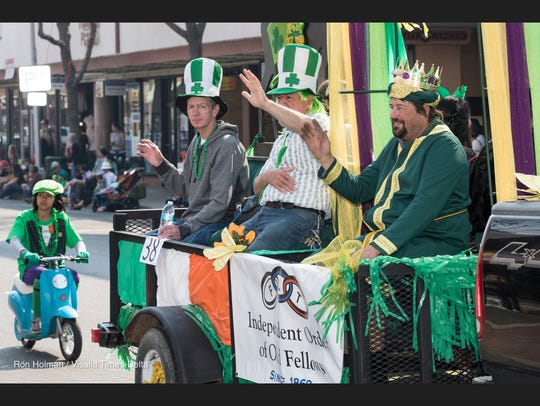St. Patrick's Day parade on Main Street in Visalia