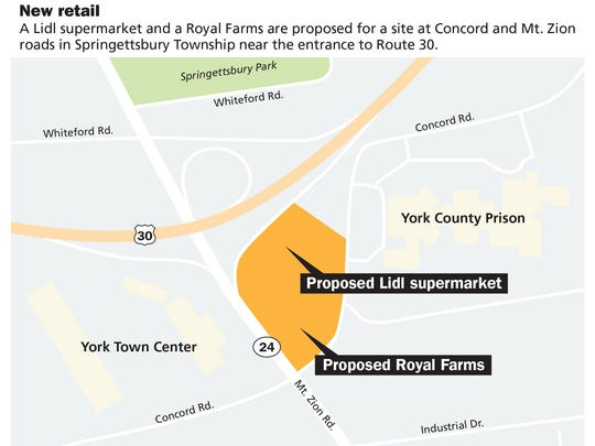 New retail locations planned in Springettsbury Township.
