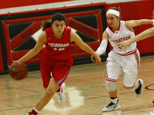 Newman Catholic's Lauren Fech earned the Marawood Conference