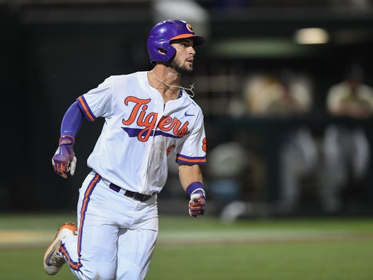 Clemson's Andrew Cox played his final game in a Tigers' uniform Monday night at Doug Kingsmore Stadium.